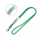 ML1019 - Cord lanyard with PVC slider. Min 100 pcs